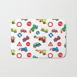 Kid cars, car and machine, tractor Bath Mat