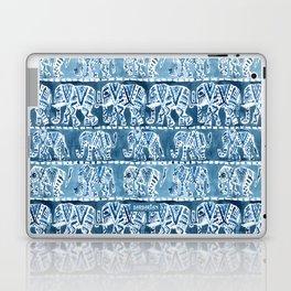 ELEPHANT SAFARI Tribal Indigo Ikat Pattern Laptop & iPad Skin