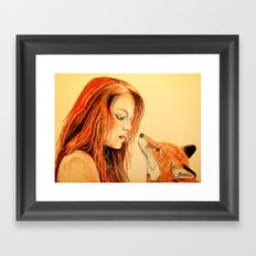 The Girl and the Fox Framed Art Print