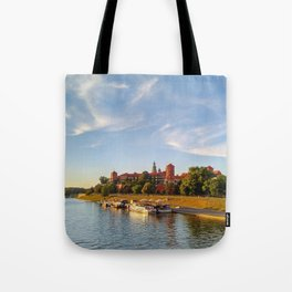 Magical Wawel Castle in Krakow - view from the bridge Tote Bag