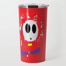 Red Shy Guy Splattery Design Travel Mug