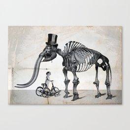 Mister Mastodon And Molly June Canvas Print