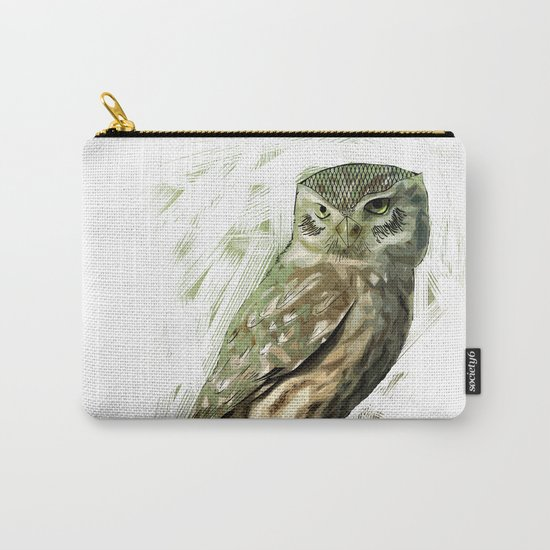 Olive Owl Carry-All Pouch