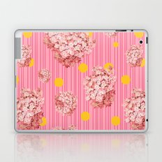 hydrangea spots and stripes Laptop & iPad Skin