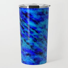 Color gradient and texture 23 dark blue Travel Mug