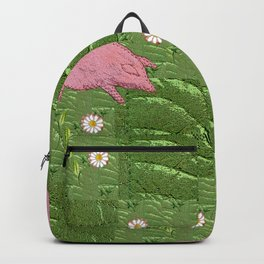 Three little pigs looking for daisies Backpack