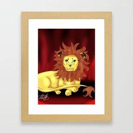 Gryffindor Mascot Framed Art Print