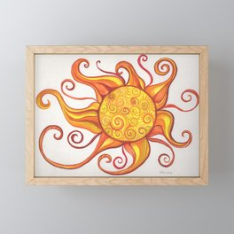 Swirling Sun Framed Mini Art Print
