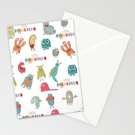 The march of the monsters Stationery Cards