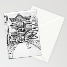 Spirited Away Bathhouse Stationery Cards
