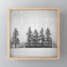 Snowstorm at the Fort Framed Mini Art Print