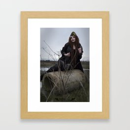 Alone in the Wasteland Pin-up 2 Framed Art Print