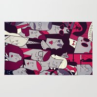 rocky horror Area & Throw Rugs featuring The Rocky Horror Picture Show by Ale Giorgini