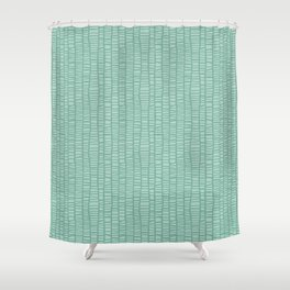 Net_turquoise Shower Curtain
