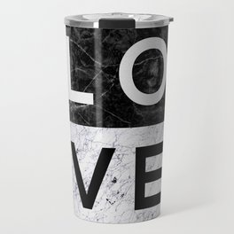 Love B&W Travel Mug