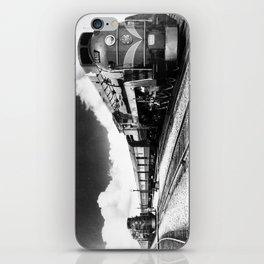 CN Trains pulling Royal Tour cars -Trains du CN tirant les voitures de la tournée royale  iPhone Skin