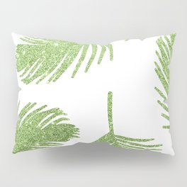 Glitter Palm Leaves Pillow Sham