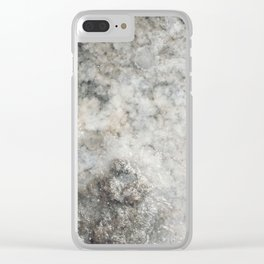 Pockets of Salt on the Rocks by the Sea Clear iPhone Case
