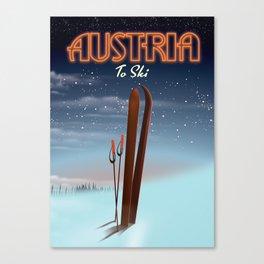 Austria To Ski Canvas Print