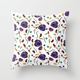 Cell Organelles - Color Throw Pillow