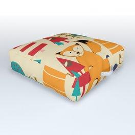 woodland fox Outdoor Floor Cushion