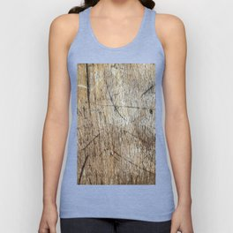 Scratched Wood Unisex Tank Top