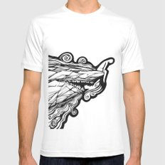On the edge MEDIUM Mens Fitted Tee White