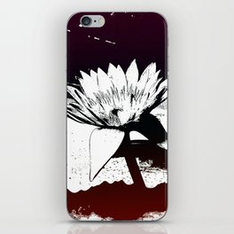 Stylized Water lily iPhone Skin