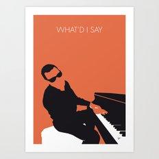 No003 MY Ray Charles Minimal Music poster Art Print