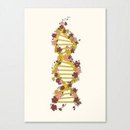 Floral DNA Canvas Print