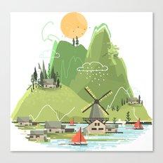 Glitchscape Canvas Print