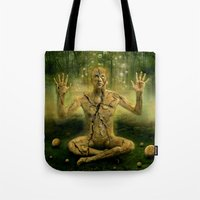 the cure Tote Bags featuring Magic forest cure by teddynash