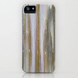Gold and Silver Deluge iPhone Case
