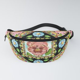 Cottage Pink Pansy Fanny Pack