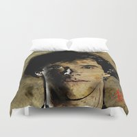 sherlock holmes Duvet Covers featuring Cumberbatch as Sherlock Holmes by André Joseph Martin