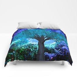 TREE MOON NEBULA DREAM Comforters