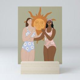 The sun Mini Art Print