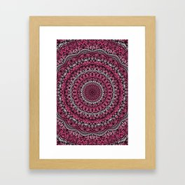Pink colors mandala Sophisticated ornament Framed Art Print