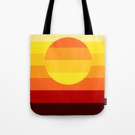 Sunset Stripe Tote Bag