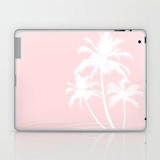 Millennial Pink White Tropical Palm Hawaii Laptop & iPad Skin