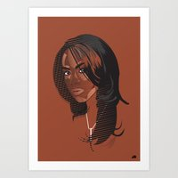 aaliyah Art Prints featuring Aaliyah by MRJ_D