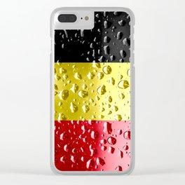 Flag of Belgium - Raindrops Clear iPhone Case