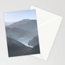 Blue landscape Vale do Douro, Portugal. Stationery Cards