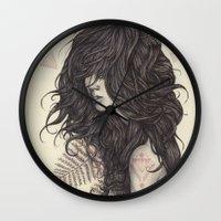 fern Wall Clocks featuring Fern by Brettisagirl