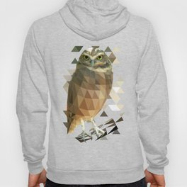 Burrowing Owl - Low Poly Technique Hoody