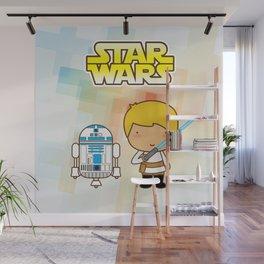 Luke Skywalker and R2D2 Wall Mural