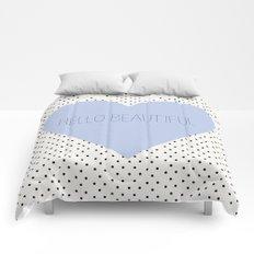Hello Beautiful Heart - Periwinkle Comforters