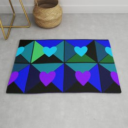Boxes of Hearts Rug