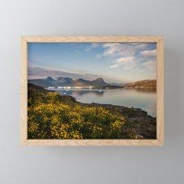 Greenland sunset Framed Mini Art Print