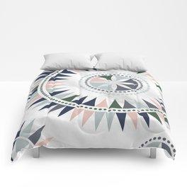 Scandinavian Floral Pattern Comforters